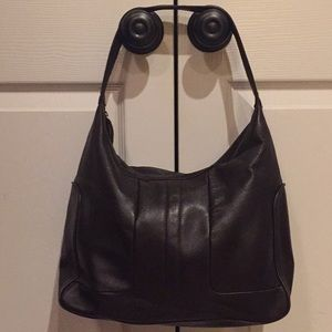 Kenneth Cole Leather Hobo Bag Gorgeous Deep Brown